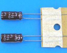 1uF/50V - 105°C Nippon  KY   kondenzátor elektrolytický, low ESR, long life