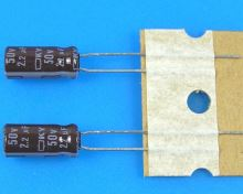 2,2uF/50V - 105°C Nippon  KY   kondenzátor elektrolytický, low ESR, long life