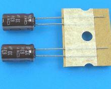 33uF/63V - 105°C Nippon  KY   kondenzátor elektrolytický, low ESR, long life