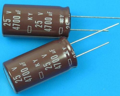 4700uF/25V - 105°C Nippon  KY   kondenzátor elektrolytický, low ESR, long life