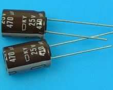 470uF/25V - 105°C Nippon  KY   kondenzátor elektrolytický, low ESR, long life