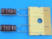 47uF/25V - 105°C Nippon KMG   kondenzátor elektrolytický