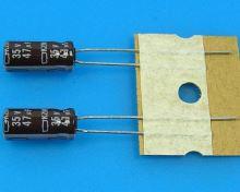 47uF/35V - 105°C Nippon  KZM kondenzátor elektrolytický, low ESR, long life, high ripple c