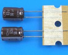 56uF/63V - 105°C Nippon  KY   kondenzátor elektrolytický, low ESR, long life