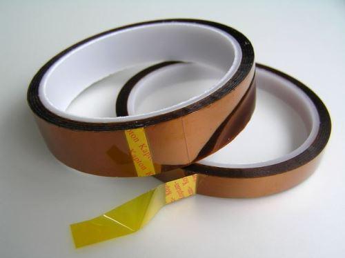 KAPTON páska izolační žlutá, samolepící, šíře 10mm, návin 33m