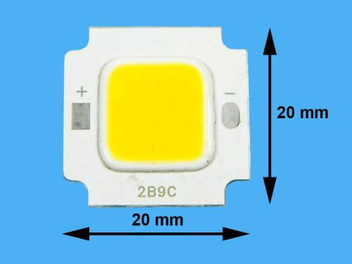 LED ČIP10W tenké provedení / LED dioda COB 10W / LEDCOB10W / LED CHIP 10W teplá bílá