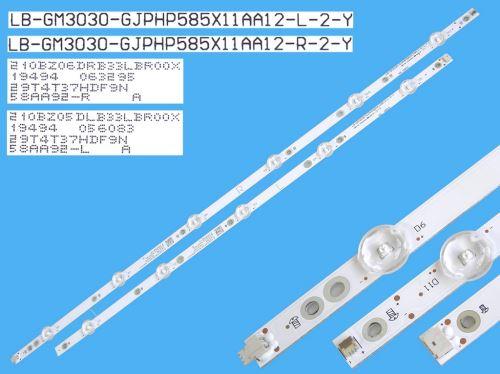 LED podsvit 1180mm sada Philips LB-GM3030-GJPHP585X11AA12-L-2-Y + LB-GM3030-GJPHP585X11AA1
