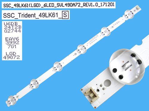 LED podsvit 512mm, 6LED / DLED Backlight 512mm - 6 D-LED, SSC_Trident_49LK61 / SSC:49LK61(