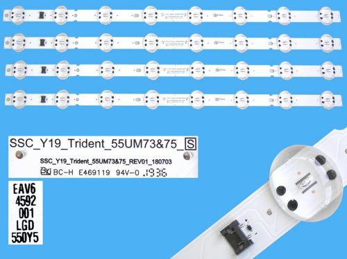 LED podsvit 582mm, 8LED / DLED Backlight 582mm - 8 D-LED, SSC_Y19_Trident_55UM73/75, EAV64