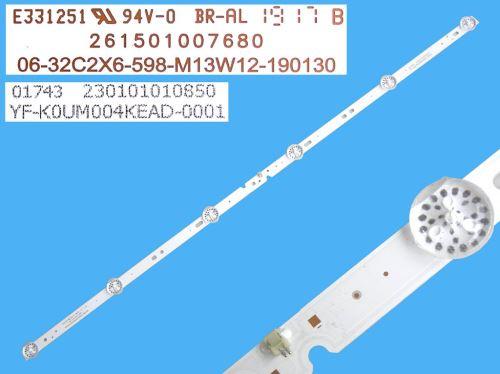 LED podsvit 598mm, 6 DLED / LED Backlight 598mm - 6DLED, 06-32C2X6-598-M13W12-190130 / 261