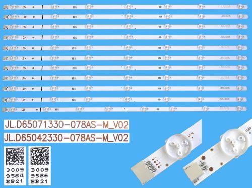 LED podsvit 707mm, 7LED / DLED Backlight 707mm - 7DLED  JL.D65071330-078AS-M_V02 / 3009958