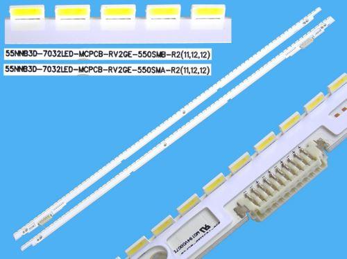 LED podsvit EDGE 1360mm sada Samsung celkem 2 kusy / LED Backlight edge 680mm - 76 LED  BN
