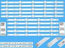 """LED podsvit sada LG AGF78402201AL celkem 10 pásků / DLED TOTAL ARRAY LG Innotek DRT 3.0 49"""" /  6916L-1944A +  6916L-1945A"""