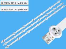 LED podsvit sada LG náhrada AGF78399301AL celkem 3 pásky 630mm / DLED TOTAL ARRAY AGF78399201AL / 6916L-1204A + 6916L-1205A