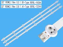 LED podsvit sada LG náhrada AGF78399601AL celkem 3 pásky 630mm / DLED TOTAL ARRAY AGF78399601AL / 6916L-1204A + 6916L-1426A