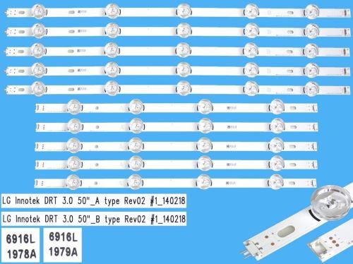 LED podsvit sada LG náhrada AGF78401501 celkem 10 pásků / DLED TOTAL ARRAY T500HVJ03 DRT_3