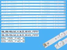 LED podsvit sada LG série CSP55 celkem 10 pásků / DLED TOTAL ARRAY 55LJ55/55UJ63_A + 55LJ5