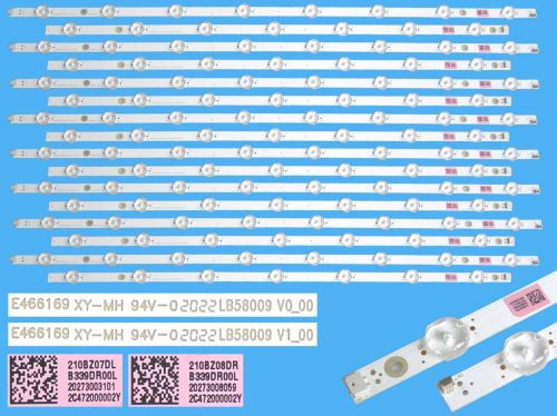 "LED podsvit sada Philips 58"" celkem 16 pásků / LED Backlight 1207mm - 15 D-LED, LB58009 V0"