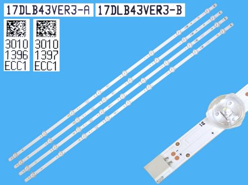 "LED podsvit sada Vestel 17DLB43VER3-A  celkem 4 pásky 820mm / D-LED BAR. VESTEL 43""FHD 235"