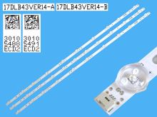 """LED podsvit sada vestel 43"""" celkem 4 pásky 818mm / D-LED BAR. VESTEL 43""""FHD SVV430A50-56 / 30098110 + 30098111"""