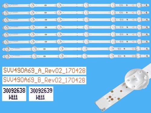 LED podsvit sada vestel SVV490A69 celkem 8 pásků 520mm SVV490A69 / 30092638 + 30092639