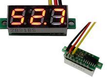 Měřidlo digitální panelové 0 - 100V LED - mini