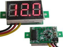 Měřidlo digitální panelové 0 - 100V LED - mini s korekcí