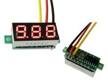 Měřidlo digitální panelové 0 - 30V LED - mini