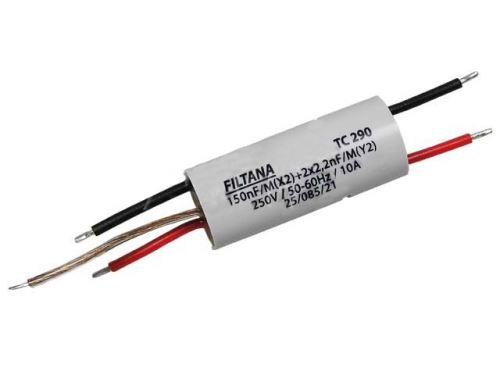 Odrušovací kondenzátor TC290 oboustranné vývody - průchodový