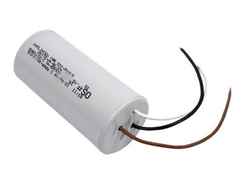 Rozběhový kondenzátor dvojitý 22uF / 6uF  450V  s drátovými vývody,  motorový kondenzátor
