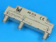 anténní slučovač F TV / SAT Alcad ME-214