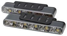 LED světla pro denní svícení, 160x25mm, ECE, sj-296