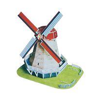 Puzzle 3D Větrný mlýn z Holandska - střední ,  papírové