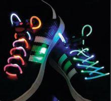 Tkaničky svítící LED zelená/purpurová BASICXL BXL-SL14