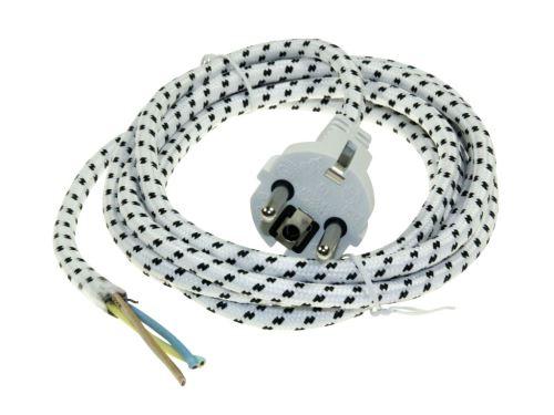 Kabel síťový pro žehličku s textilním opředením, volný konec  3m