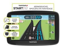 "TOMTOM START 52 Europe LIFETIME mapy, 5"" displej, 1AA5.002.01"