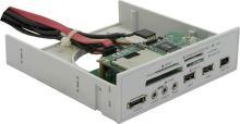 """DeLock Multipanel 5.25""""/CardReader 34in1Audio, Mic.,eSATA, 91631"""