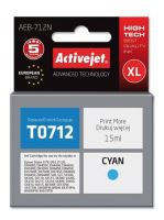 ActiveJet Ink cartridge Eps T0712 D78/DX6000/DX6050 Cyan - 15 ml     AEB-712, EXPACJAEP0105