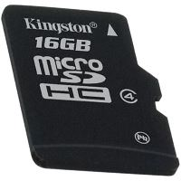 KINGSTON 16GB micro SDHC single pack - bez adaptéru Class 4, SDC4/16GBSP