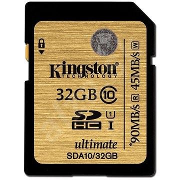 KINGSTON 32GB SDXC Class 10 UHS-I 90MB/s R, 45MB/s W Flash Card, SDA10/32GB
